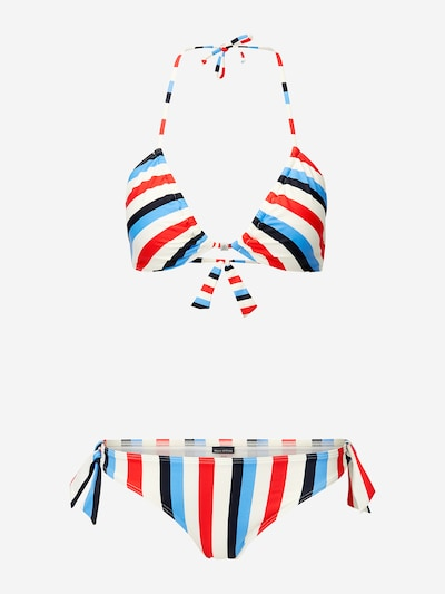 Marc O'Polo Triangel-Bikini ' Beach ' in mischfarben / wollweiß, Produktansicht