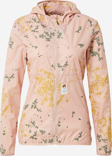 Maloja Outdoorjas 'Nelkenwurz' in de kleur Geel / Donkergroen / Rosa, Productweergave