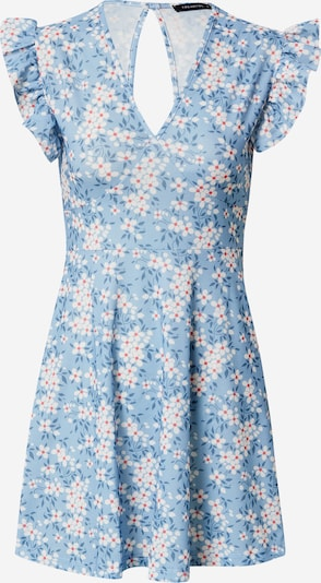 Trendyol Kleid in rauchblau / himmelblau / rot / weiß, Produktansicht