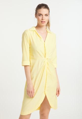 Rochie tip bluză de la usha BLUE LABEL pe galben