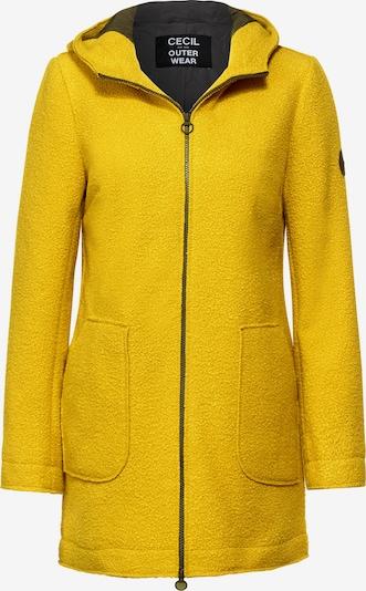 CECIL Outdoor Mantel in Fake Wolle in gelb, Produktansicht
