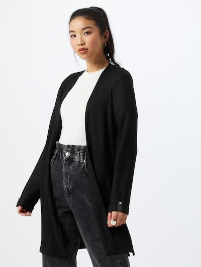 TOM TAILOR Strickjacke in schwarz, Modelansicht