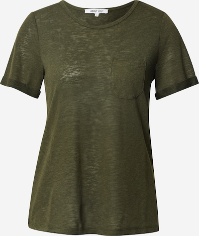 ABOUT YOU T-shirt 'Christin' en kaki, Vue avec produit