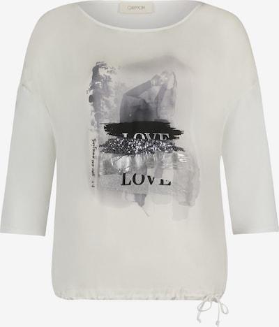 Cartoon Shirt in schwarz / silber / weiß, Produktansicht