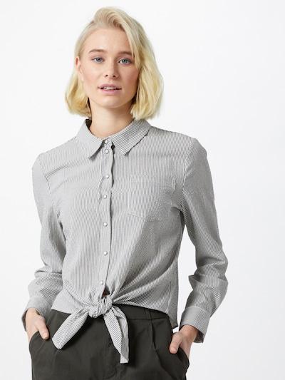 ONLY Bluse 'Lecey' in dunkelgrau / weiß, Modelansicht