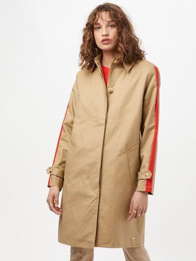RINO & PELLE Mantel in beige / rot, Modelansicht