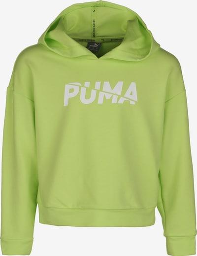 PUMA Sweat de sport en vert / blanc, Vue avec produit