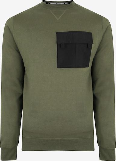 Threadbare Sweat-shirt en vert / noir, Vue avec produit