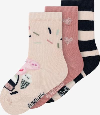 NAME IT Sokken 'Peppa Pig' in de kleur Pastelgroen / Rosé / Poederroze / Zwart, Productweergave