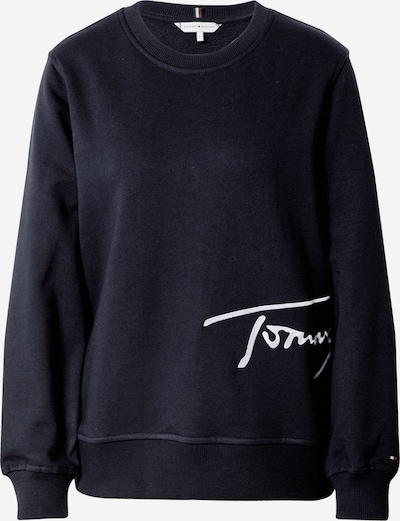 TOMMY HILFIGER Sweatshirt i mørkeblå / hvid, Produktvisning