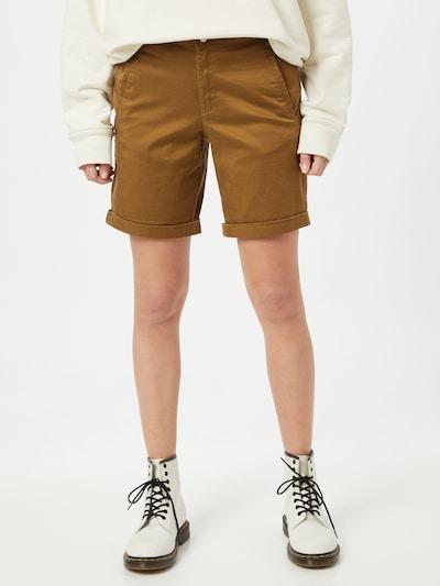 VILA Pantalon en caramel, Vue avec modèle