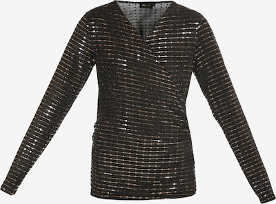 myMo at night Bluse in gold / schwarz, Produktansicht