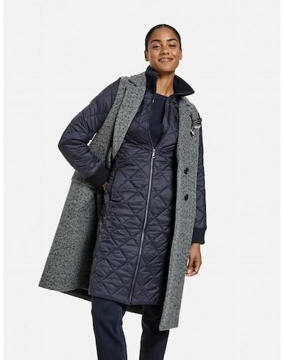 TAIFUN Mantel in ultramarinblau / graumeliert, Modelansicht