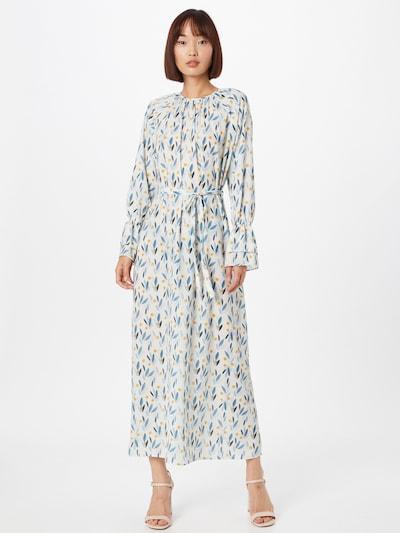 Trendyol Kleid in ecru / blau / orange, Modelansicht
