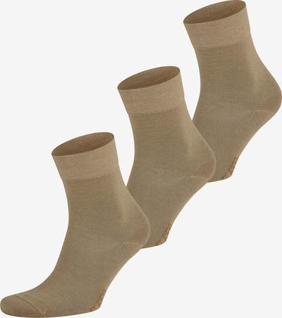 ELBEO Chaussettes ' 3er-Pack Fresh Komfort ' en beige, Vue avec produit