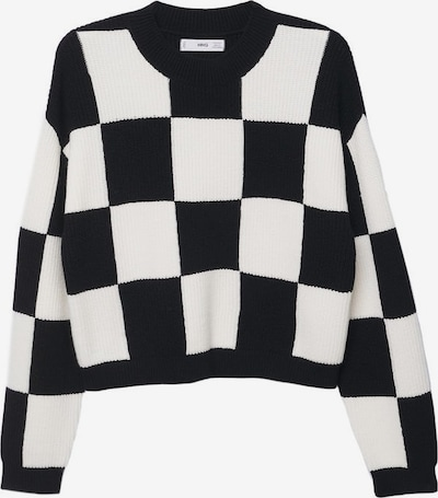 MANGO Pull-over 'Chess' en noir / blanc, Vue avec produit