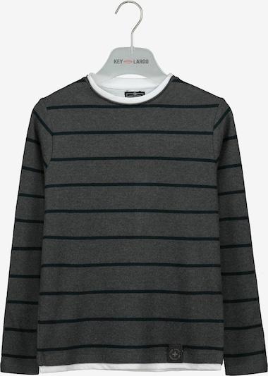 Key Largo Langarmshirt in grau / weiß, Produktansicht