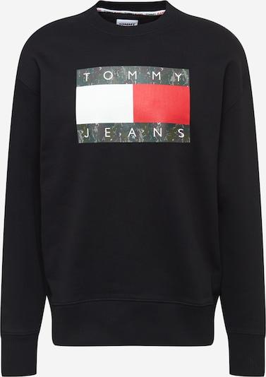 Tommy Jeans Mikina - krvavo červená / čierna / biela, Produkt