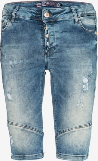 CIPO & BAXX Shorts Anna mit Destroyed-Effekt in blau, Produktansicht