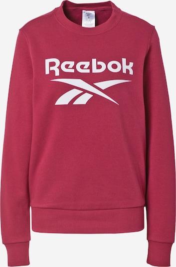 Reebok Sport Sweatshirt i bordeaux / vit, Produktvy