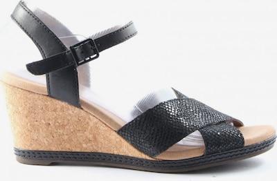 CLARKS High Heel Sandaletten in 39 in schwarz / wollweiß, Produktansicht