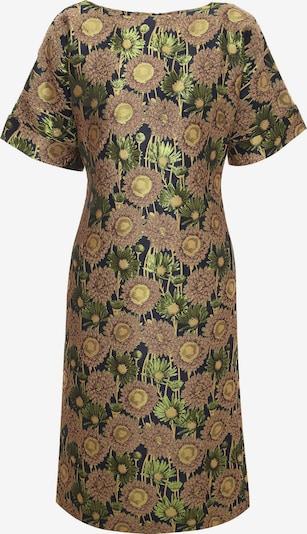 Madam-T Jurk 'Judy' in de kleur Brons / Goud / Groen / Zwart, Productweergave