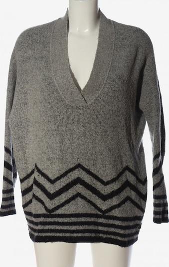 Malvin V-Ausschnitt-Pullover in XL in hellgrau / schwarz, Produktansicht