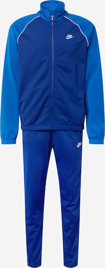 Nike Sportswear Облекло за бягане в синьо / тъмносиньо / бяло: Изглед отпред