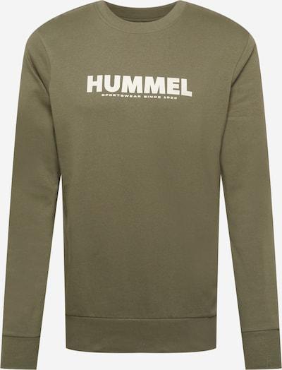 Megztinis be užsegimo iš Hummel, spalva – rusvai žalia / balta, Prekių apžvalga