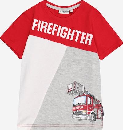 SALT AND PEPPER T-Shirt in hellblau / graumeliert / rot / weiß, Produktansicht