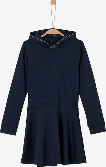 s.Oliver Jerseykleid mit Rippblende in dunkelblau, Produktansicht