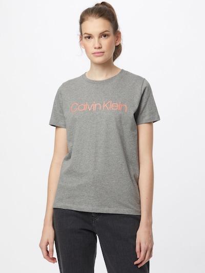 Calvin Klein T-Shirt in graumeliert / koralle: Frontalansicht