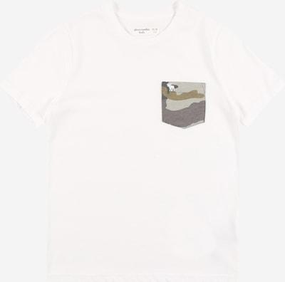 Abercrombie & Fitch T-Shirt 'NOVELTY' in khaki / oliv / weiß, Produktansicht