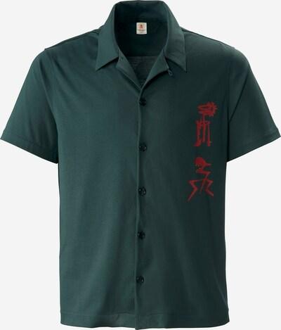 PHYNE Overhemd in de kleur Groen / Donkergroen, Productweergave