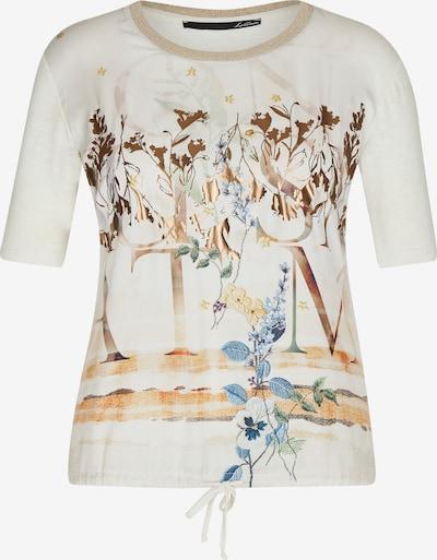 Lecomte Shirt mit Muster-Mix und Lettering in beige / bronze / naturweiß, Produktansicht