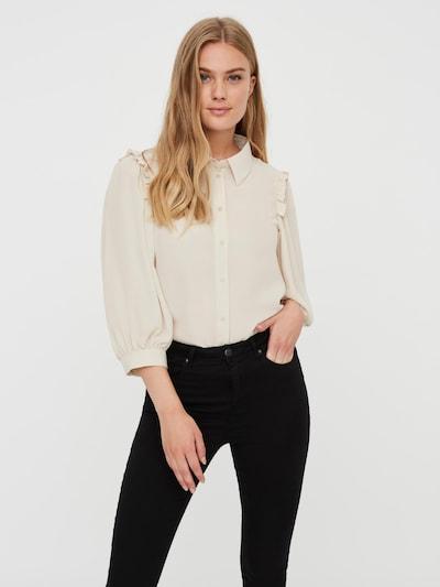 VERO MODA Blouse 'POEL' in de kleur Grijs, Modelweergave