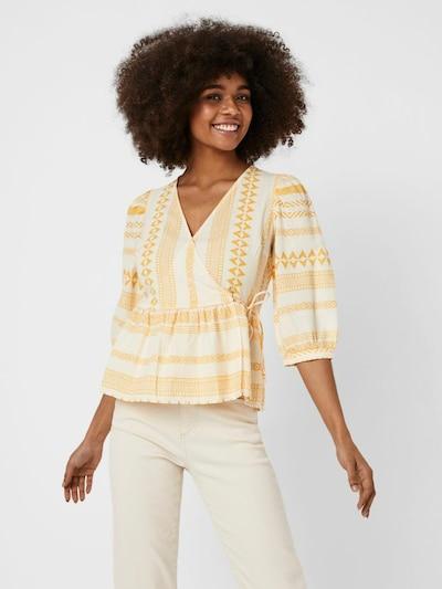 VERO MODA Bluse 'Dichte' in goldgelb / orange / weiß, Modelansicht
