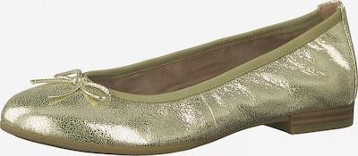 TAMARIS Ballerina in gold, Produktansicht