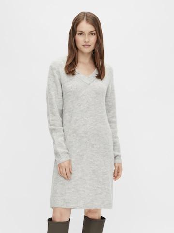PIECES Πλεκτό φόρεμα 'Ellen' σε γκρι
