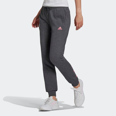 ADIDAS PERFORMANCE Športové nohavice - tmavosivá / ružová, Model/-ka