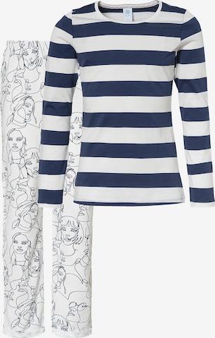 SANETTA Schlafanzug für Mädchen, Organic Cotton in Blau