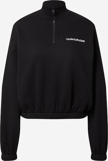 Felpa Calvin Klein Jeans di colore nero / bianco, Visualizzazione prodotti