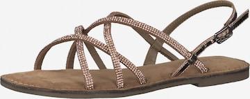 Sandales à lanières s.Oliver en or