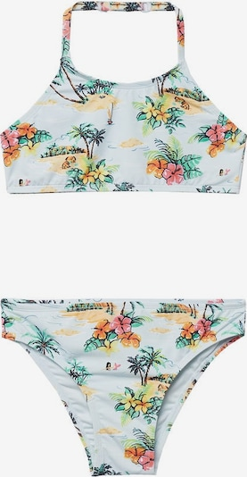 MANGO KIDS Bikini 'Hawai' in azur / grün / mischfarben / orange / schwarz, Produktansicht
