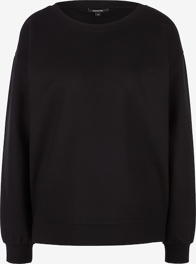 COMMA Sweatshirt mit überschnittenen Schultern in schwarz, Produktansicht