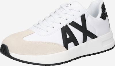 ARMANI EXCHANGE Sneaker in beige / schwarz / weiß, Produktansicht