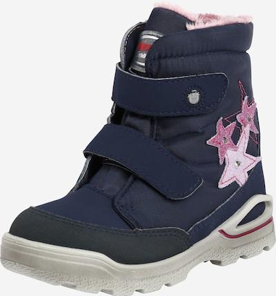 Pepino Stiefel in nachtblau / pink, Produktansicht