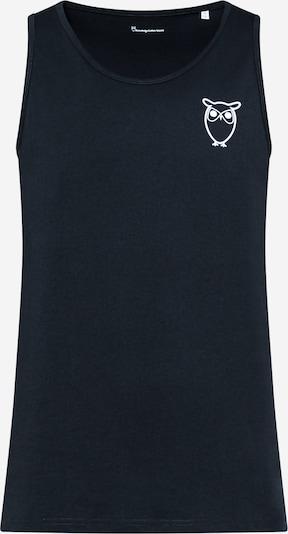 KnowledgeCotton Apparel Majica 'PALM' u tamno plava / bijela, Pregled proizvoda