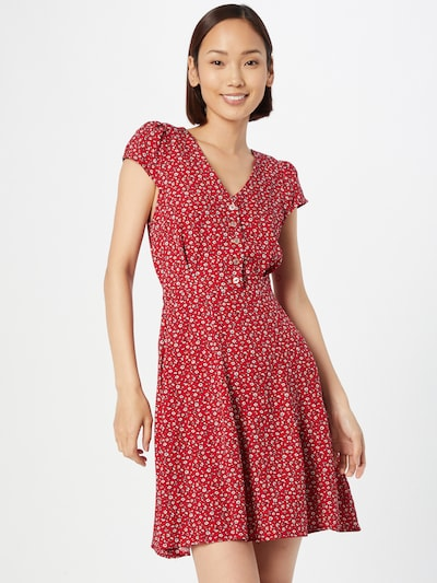 Louche Blousejurk 'CATHLEEN' in de kleur Rood / Zwart / Wit, Modelweergave