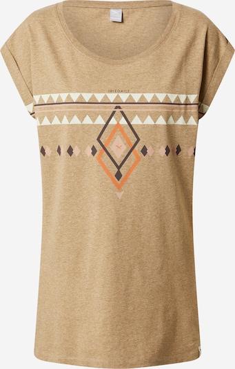 Iriedaily T-Shirt 'Hopi' in braunmeliert / mischfarben, Produktansicht